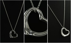 Tiffany & Co. Open Heart Pendant and Chain