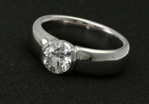 Tiffany & Company Bezet Engagement Ring