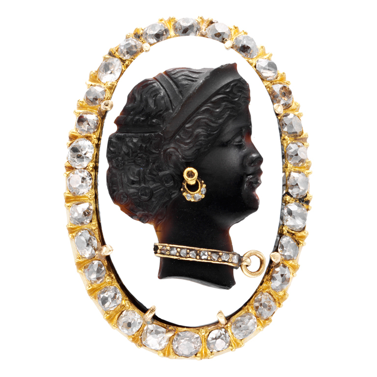 High relief cameo
