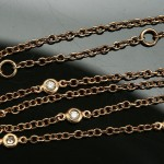 """Diamonds By The YARD 18K Rose Gold & 0.14CTS Diamond Station 18"""" Chain Necklace"""